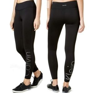 calvin klein performance stretch leggings womens M